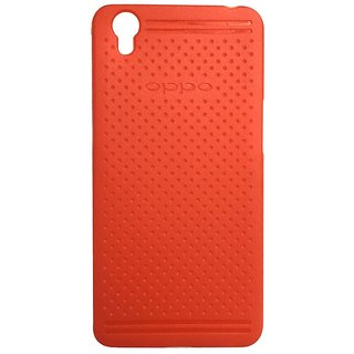 Colorcase Dotted Silicon Back Cover Case for Oppo A37 - Red