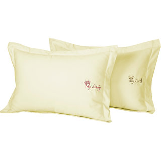 Fisher West NY Vanilla Gold My Lady My Lord 800 Thread Count Pillow Covers