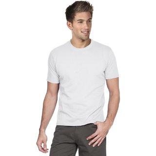 Blackburne Inc Solid MenS Round Neck White T-Shirt