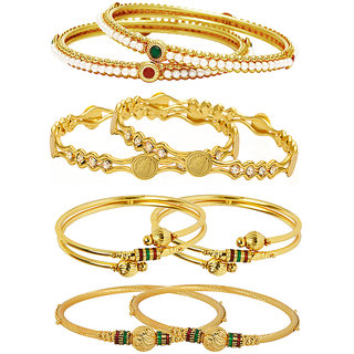 Jewels Galaxy Gold Plated Multi Bangles For Women-JG-CB-KBN-930