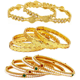 Jewels Galaxy Non Plated Multi Bangles For Women-JG-CB-KBN-931