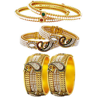 Jewels Galaxy Non Plated Multi Bangles For Women-JG-CB-KBN-933