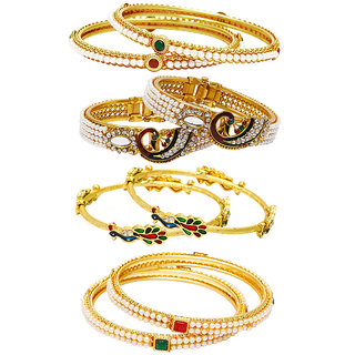 Jewels Galaxy Non Plated Multi Bangles For Women-JG-CB-KBN-934