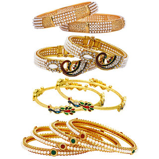 Jewels Galaxy Non Plated Multi Bangles For Women-JG-CB-KBN-935