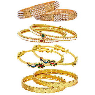 Jewels Galaxy Non Plated Multi Bangles For Women-JG-CB-KBN-937