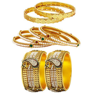Jewels Galaxy Non Plated Multi Bangles For Women-JG-CB-KBN-953