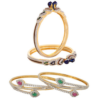 Jewels Galaxy Non Plated Multi Bangles For Women-JG-CB-KBN-955
