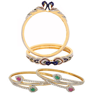 Jewels Galaxy Non Plated Multi Bangles For Women-JG-CB-KBN-956