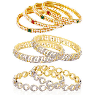 Jewels Galaxy Non Plated Multi Bangles For Women-JG-CB-KBN-961