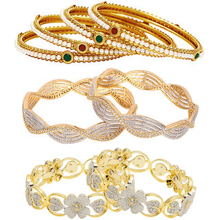 Jewels Galaxy Non Plated Multi Bangles For Women-JG-CB-KBN-969