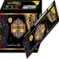 Shri Om Uttam Brand Intimate Fragrance 12 Packs Of 12 Agarbatti/Incense Sticks With A Free Match Box In Every Pack