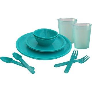 Incrizma 12 Pcs Polypropylene Dinner Set Turquoise Green