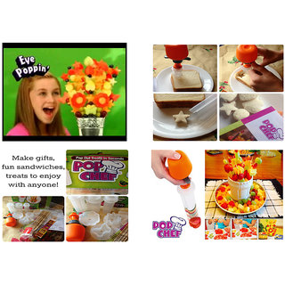 CPEX Pop Chef Just Push Pop And Create Pop chef fruit cutter Food salad Decorator