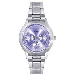 Timex Quartz Purple Round Women Watch TI000Q80500