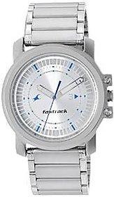 Fastrack Quartz Grey Round Men Watch 3039SM03