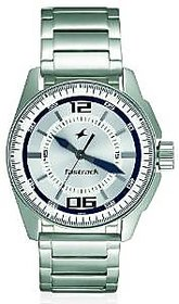 Fastrack Analog White Round Watch -3089SM01