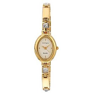 Titan Quartz Beige Dial Women Watch-9717YM02