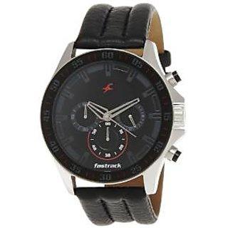Fastrack Quartz Black Dial Mens Watch-3072SL06
