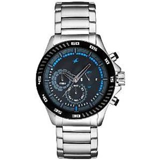 Fastrack Chronograph Black Round Watch -3072SM03