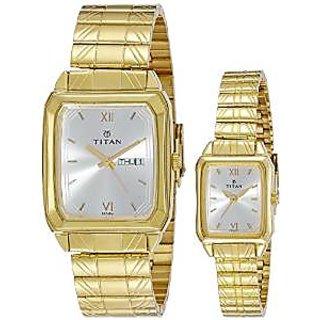 Titan Quartz White Dial Unisex Watch-15812488YM04