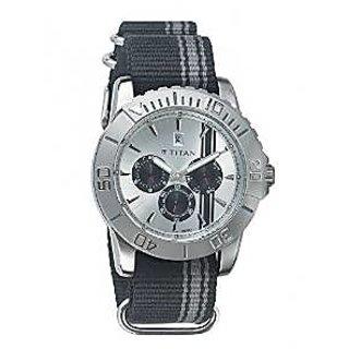 Titan Quartz Multi Dial Unisex Watch-9490SP01