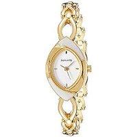 Sonata Quartz Silver Oval Women Watch 8069YM01
