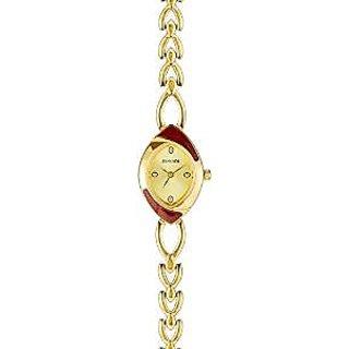 Sonata Quartz Gold Dial Women Watch-8069ym02