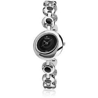 Titan Quartz Black Dial Women Watch-2485SM02
