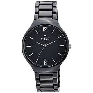 Titan Quartz Black Dial Mens Watch-90014KC01