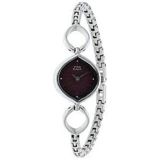 Titan Quartz Purple Dial Women Watch-2497SM02