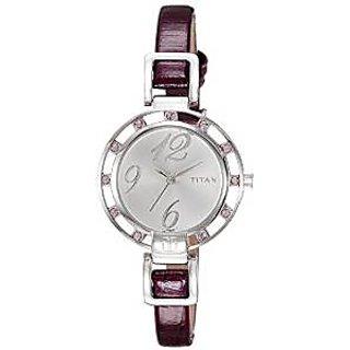 Titan Quartz Silver Dial Women Watch-9924SL01