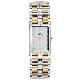 Titan Quartz Silver Dial Women Watch-9870BM01