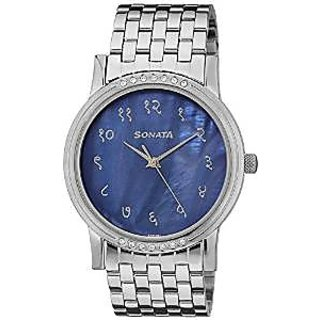 Sonata Quartz Blue Dial Mens Watch-7108TM01