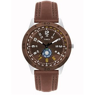 Timex Quartz Brown Round Men Watch TI000U90300
