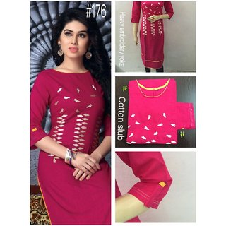 Jaipuri kurti with bird embroidery