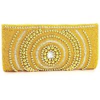 LadyBugBag Cream And Gold Designer Handbag