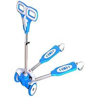 Kids Scooter 4 Wheel Height Adjustable Frog Double Board Self Proppelled Scooter