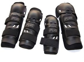 Stylish Elbow  Knee Guard Black Color Set Of 4 Pc