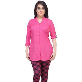 Pink three forth sleeve shirt