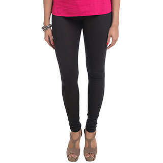 Navrachna Black Cotton Solid Legging
