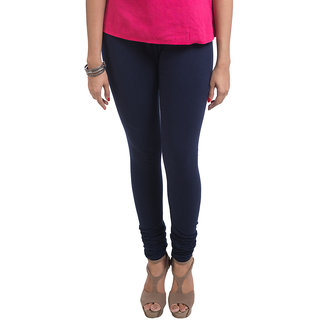 Navrachna Blue Cotton Solid Legging