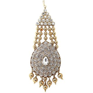 Biyu Traditional Mastani Inspired Cubic Zirconia Hair Passa Jhoomar Accessory