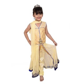 Buy Lehenga Choli Dress For Girls Kids Beige Net Embroidered Partywear Readymade 3 10 Years Online 1599 From Shopclues