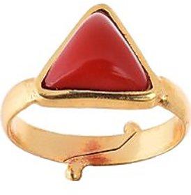 5.25 Ratti Coral (Moonga) Red Gemstone Ring by Ceylon Sapphire