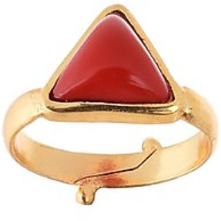 5.25 Ratti Coral (Moonga) Red Gemstone Ring by Ceylon Sapphire