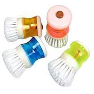 Dish Washer - Cleaning Brush With Soap Dispenser (Pack of 3)