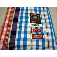 SOUTH INDIAN PURE COTTON BATH TOWELS--a Set Of Three Towels--size30 X 60 Inches