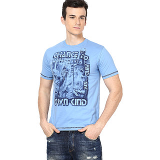 Shanty Trendy Men's Indigo Graphic Cotton T-Shirt