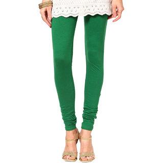 PeePee Cotton Lycra Legging - Green - Free Size