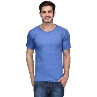 Teesort Men's Blue Round Neck T-Shirt